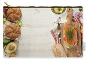 Sandwich With Salmon, Cucumber, Cream Cheese, Dill And Tomatoe Carry-all Pouch