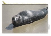 Sandy Beach With Harbor Seal Carry-all Pouch