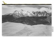 Sangre De Cristo Mountains And The Great Sand Dunes Bw Carry-all Pouch