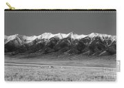 Sangre De Cristos  Dusk In Black And White Carry-all Pouch
