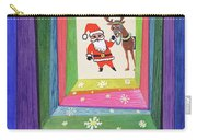 Santa And His Reindeer Carry-all Pouch