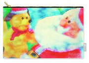 Santa And Pup Carry-all Pouch