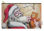 Santa And Teddy Carry-all Pouch