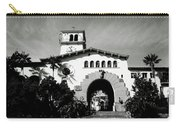 Santa Barbara Courthouse Black And White-by Linda Woods Carry-all Pouch