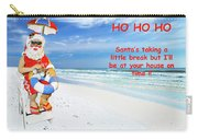 Santa Christmas Greeting Card Carry-all Pouch