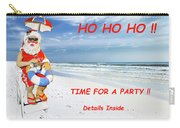 Santa Christmas Party Invitation Carry-all Pouch
