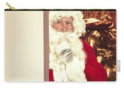 Santa Claus At Open Christmas Door Carry-all Pouch