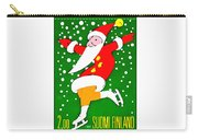 Santa Claus On Skates Carry-all Pouch