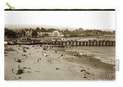 Santa Cruz Beach With Ideal Fish Restaurant 1930's Carry-all Pouch