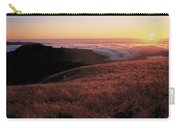 Santa Cruz Mountains At Sunset Ca Usa Carry-all Pouch