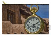Santa Fe Plaza Clock Carry-all Pouch