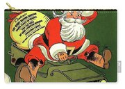 Santa In A Hurry Carry-all Pouch