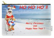 Santa Merry Christmas And Happy New Year Card Carry-all Pouch