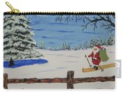 Santa On Skis Carry-all Pouch
