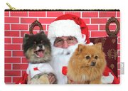 Santa Paws With Two Dogs Carry-all Pouch