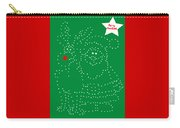 Santa Rudolph Stars Green Carry-all Pouch