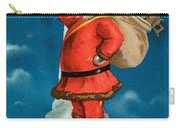 Santa Standing On The Globe Carry-all Pouch