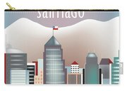 Santiago Chile Horizontal Skyline Carry-all Pouch