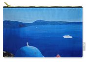 Santorini Greece View From Oia To Caldera Carry-all Pouch