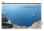 Santorini Old Port At Fira Carry-all Pouch