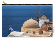 Santorini Windmill And Church Carry-all Pouch
