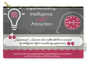 Sapiosexuality Intelligence And Attraction Carry-all Pouch