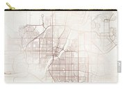 Saskatoon Street Map Colorful Copper Modern Minimalist Carry-all Pouch
