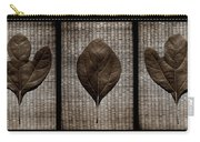 Sassafras Leaves With Wicker Carry-all Pouch