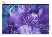 Sassy White Flowers Carry-all Pouch