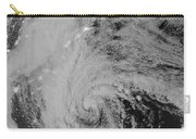 Satellite View Of Hurricane Sandy Carry-all Pouch