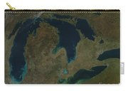 Satellite View Of The Great Lakes, Usa Carry-all Pouch