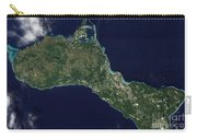 Satellite View Of The Island Of Guam Carry-all Pouch