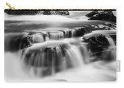 Sathodi Falls In Black And White Carry-all Pouch