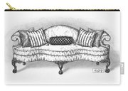 Satin Chippendale English Sofa Carry-all Pouch