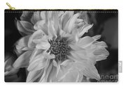 Satin Flora Bw Carry-all Pouch
