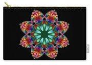 Satin Rainbow Fractal Flower II Carry-all Pouch
