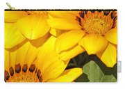 Satin Yellow Florals Carry-all Pouch