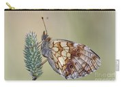 Satyr Butterfly On Blade Of Grass Carry-all Pouch