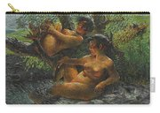 Savage Oil Painting Naked Female Carry-all Pouch