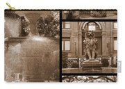 Savannah Landmarks In Sepia Carry-all Pouch