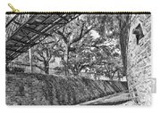 Savannah Perspective - Black And White Carry-all Pouch