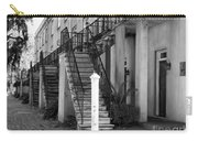 Savannah Steps Black And White Carry-all Pouch