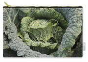 Savoy Cabbage In The Vegetable Garden Carry-all Pouch by Carol Groenen