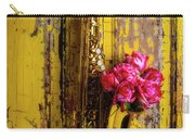 Saxophone And Roses On Wall Carry-all Pouch