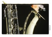 Saxophone With Smoke Carry-all Pouch by Garry Gay
