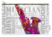 Saxophone With Word Background Carry-all Pouch