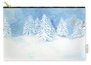Scandinavian Winter Snowy Trees Hygge Carry-all Pouch