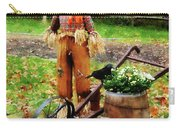 Scarecrow And Pumpkin Carry-all Pouch