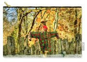 scarecrow in field at Stanhope Waterloo Village Carry-all Pouch