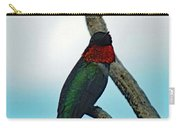 Scarlet Gorget - Ruby-throated Hummingbird Carry-all Pouch